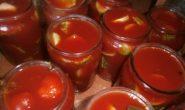 рецепт огурцов в томатной заливке