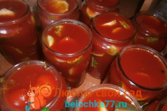 Заливаем томатом