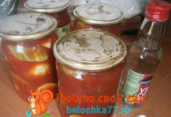 Рецепт огурцы в томатной заливке с пошаговыми фото