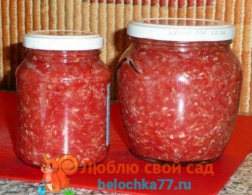 Соус из помидоров с хреном