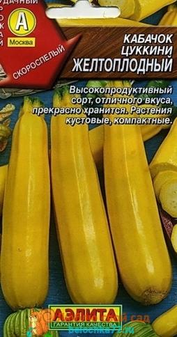 Желтоплодный сорт кабачка