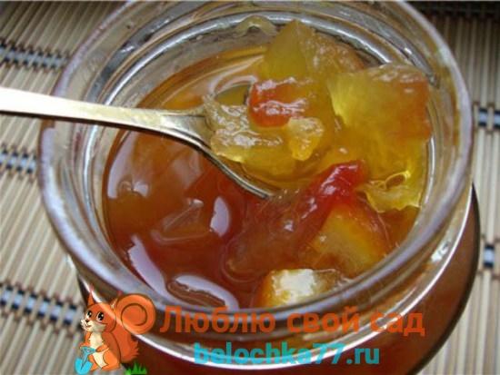 Варенье из арбузных корок с лимоном, апельсином