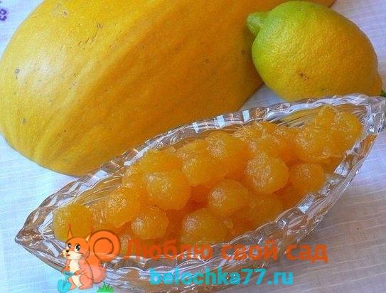 Лучшие рецепты варенья из тыквы с лимоном