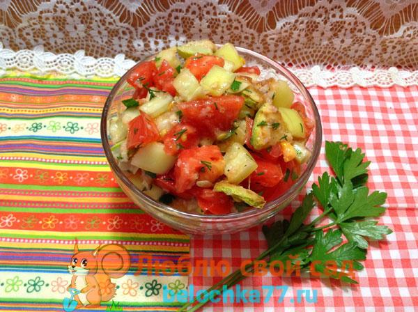 Салат из кабачков «Тёщин язык»