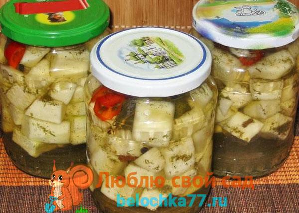 Простой салат из кабачков без стерилизации