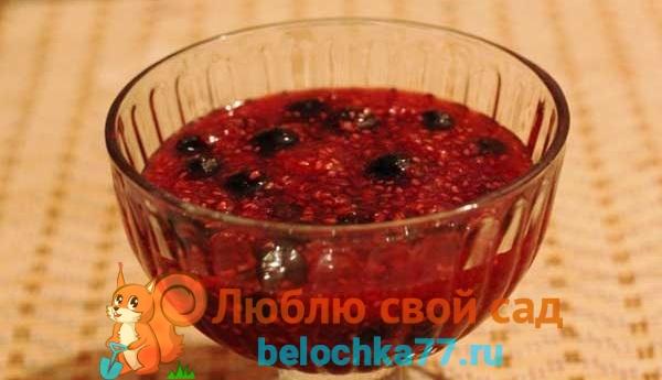 Варенье из черной смородины с малиной