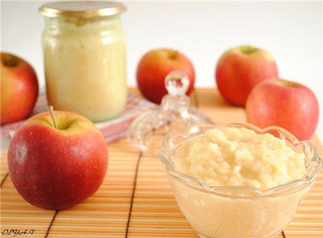 Без стерилизации пюре из яблок