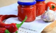 Аджика из помидоров и чеснока: классический рецепт на зиму с фото