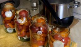 Помидоры в желатине на зиму рецепты пошагово с фото