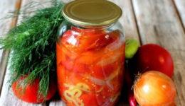 Помидоры на зиму – самый вкусный рецепт салата с фото