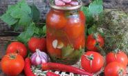 Помидоры, маринованные с кетчупом чили: пошаговый рецепт с фото