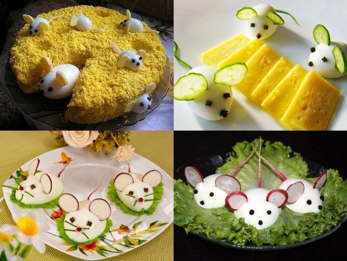 Как украсить стол и блюда на Новый 2020 год Крысы