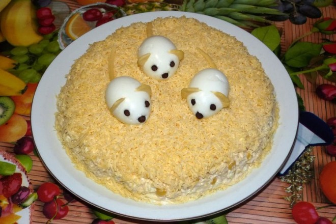 салат на новый год крысы